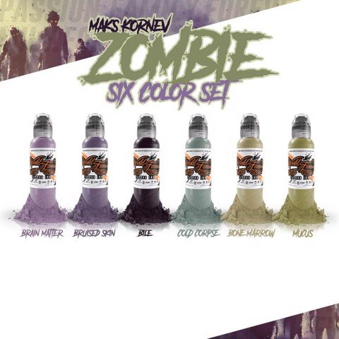 Maks Kornev's Zombie Color Set 6 Mầu-1oz