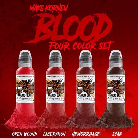 Maks Kornev's Blood Color Set 4 Màu