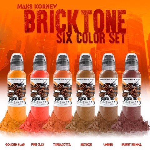 Maks Kornev's Brick Tone Color Set 6 Màu