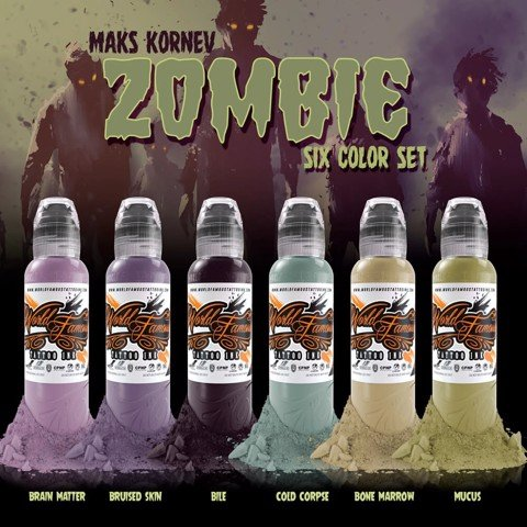 Maks Kornev's Zombie Color Set 6 Màu