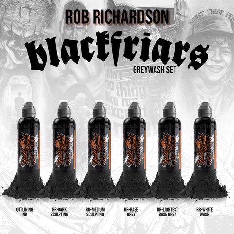 ROB RICHARDSON BLACK FRIAR GREYWASH 6 BOTTLE