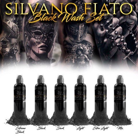 SILVANO FIATO BLACK WASH SET 6 BOTTLE