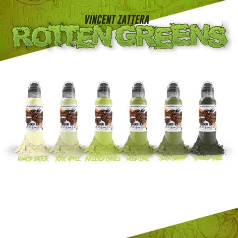Vincent Zaterra Rotten Greens Set 6 Mầu - 1oz