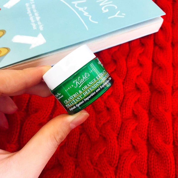 Mặt nạ ngủ ngò Kiehl's Cilantro & Orange Extract Pollutant Purifying Masque 14ml