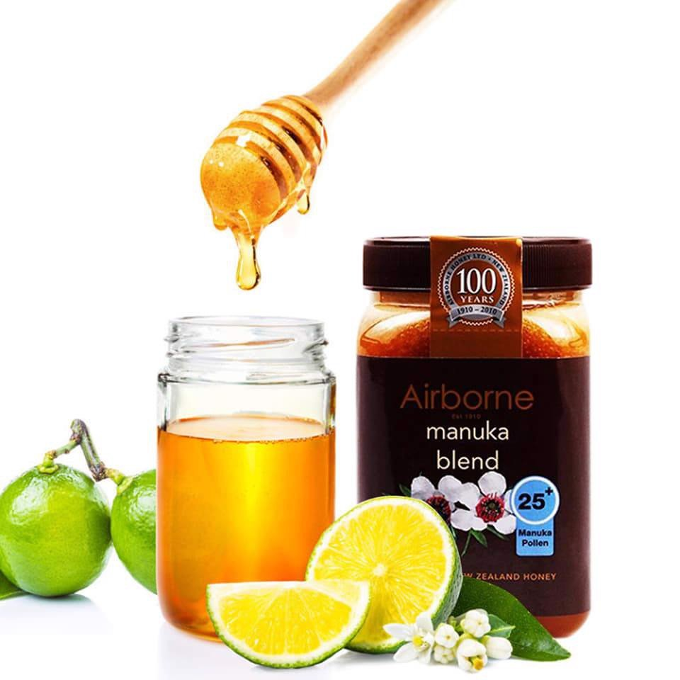AIRBORNE Manuka Blend 25+ Pure Natural New Zealand Honey 500g
