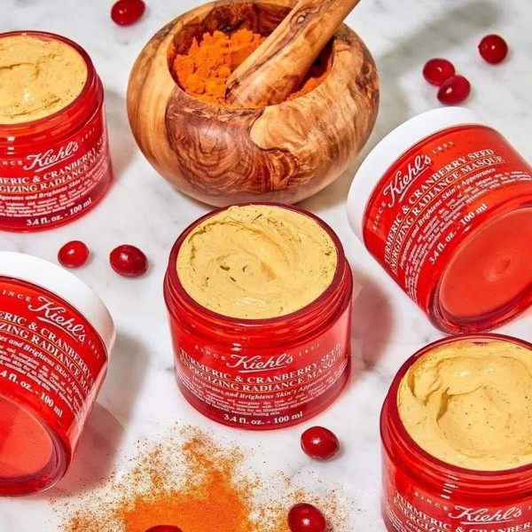 Mặt Nạ Nghệ Việt Quất Kiehl's Tumeric & Cranberry Seed Energizing Radiance Masque 14ml