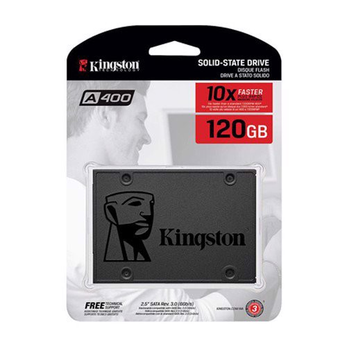 Ổ SSD Kingston A400 120Gb SATA3 (đọc: 500MB/s /ghi: 320MB/s)