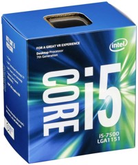 CPU Intel Core i5 7500 (Up to 3.8Ghz/ 6Mb cache) Kabylake