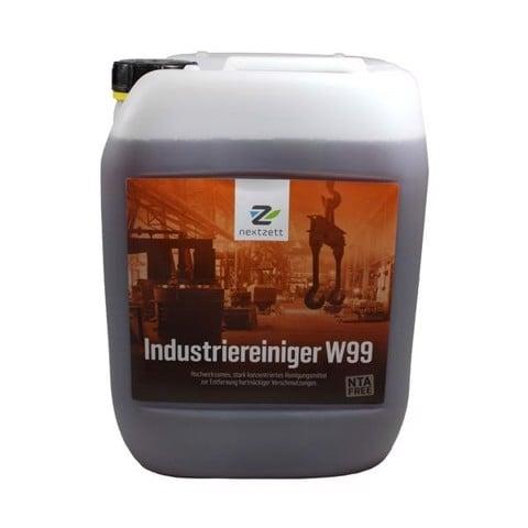 Dung dịch vệ sinh khoang máy ô tô và dầu mỡ công nghiệp W99 hãng nextzett can 10L, mã 90141515