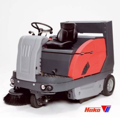 Vacuum sweepers ride on Sweepmaster B1200