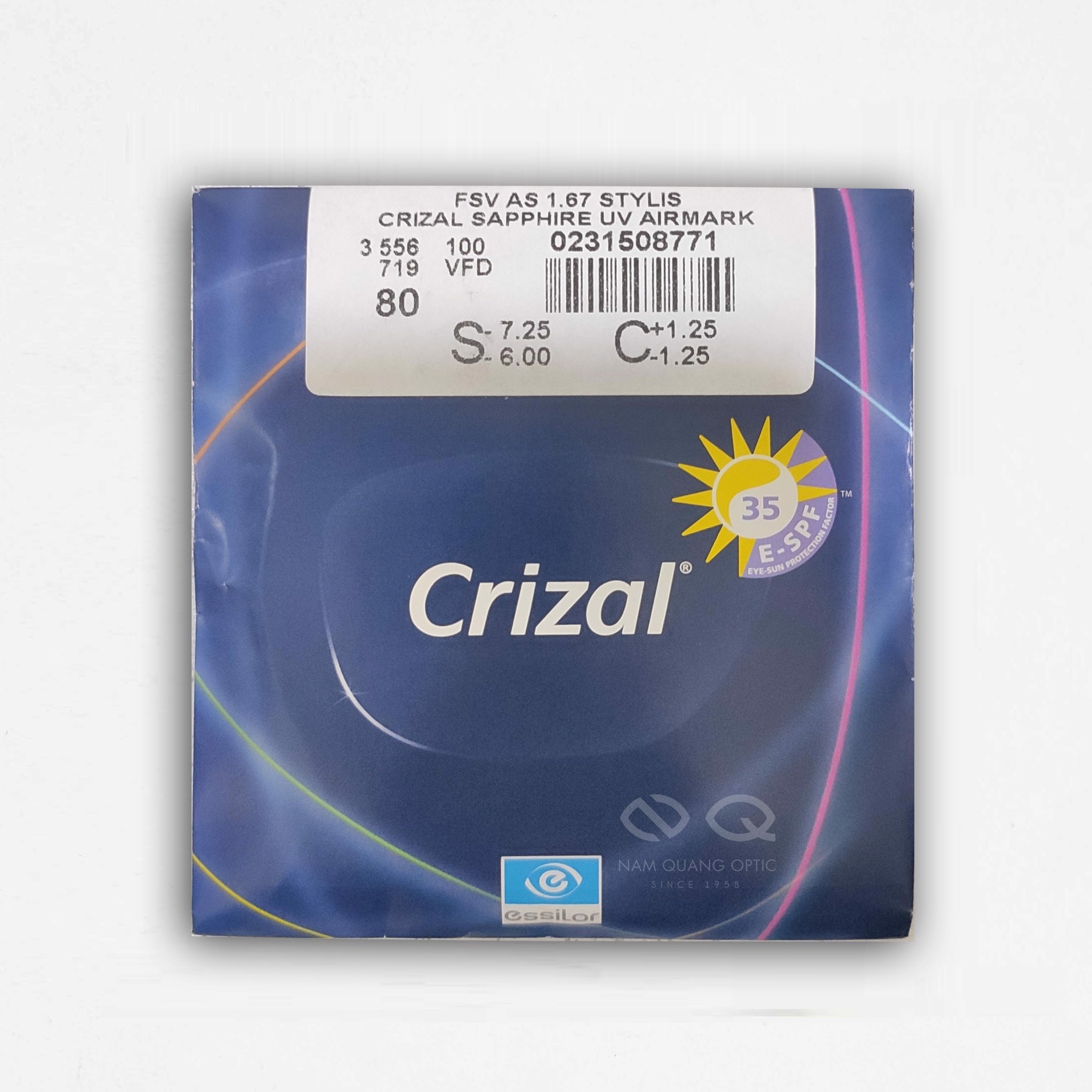 Order Trong Crizal Sapphire 360UV156