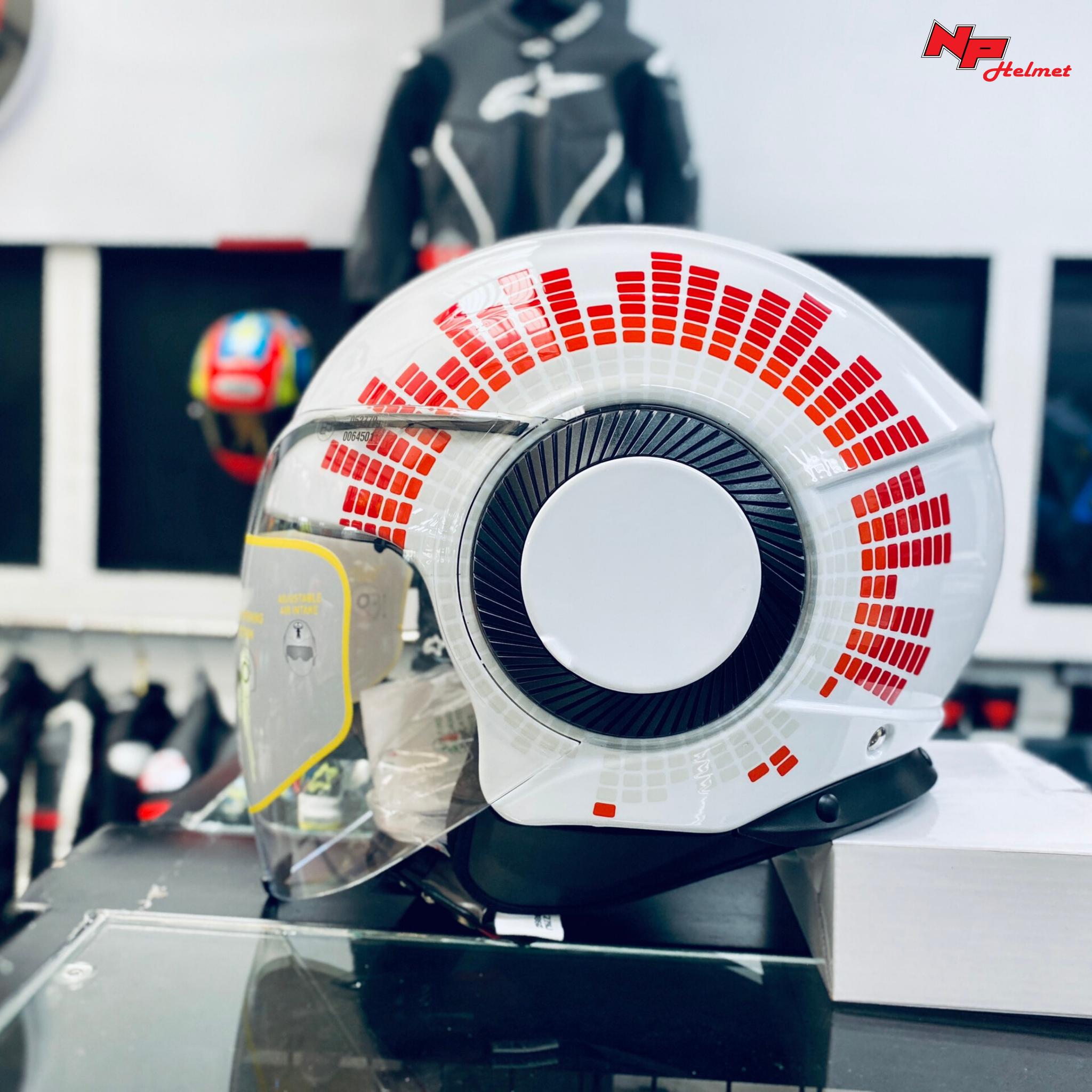AGV Orbyt Ginza Trắng - Mũ AGV 3/4 2 kính