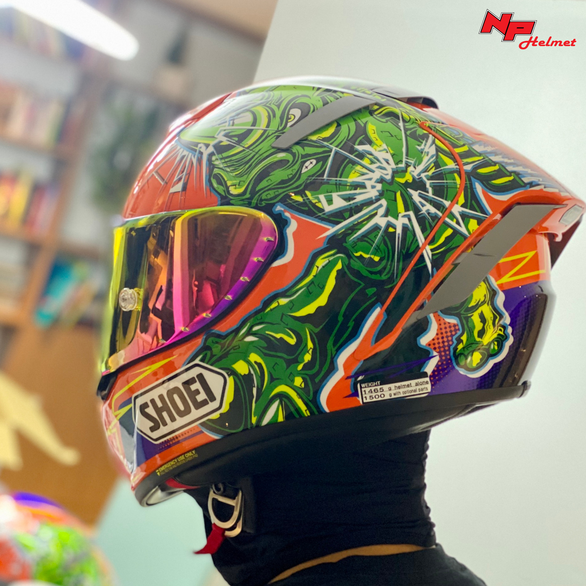Mũ Bảo Hiểm Fullface Shoei X-Spirit III Power Rush TC-8