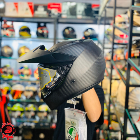 Mũ Dual AGV AX9 Matt Carbon ( Model 2019 )