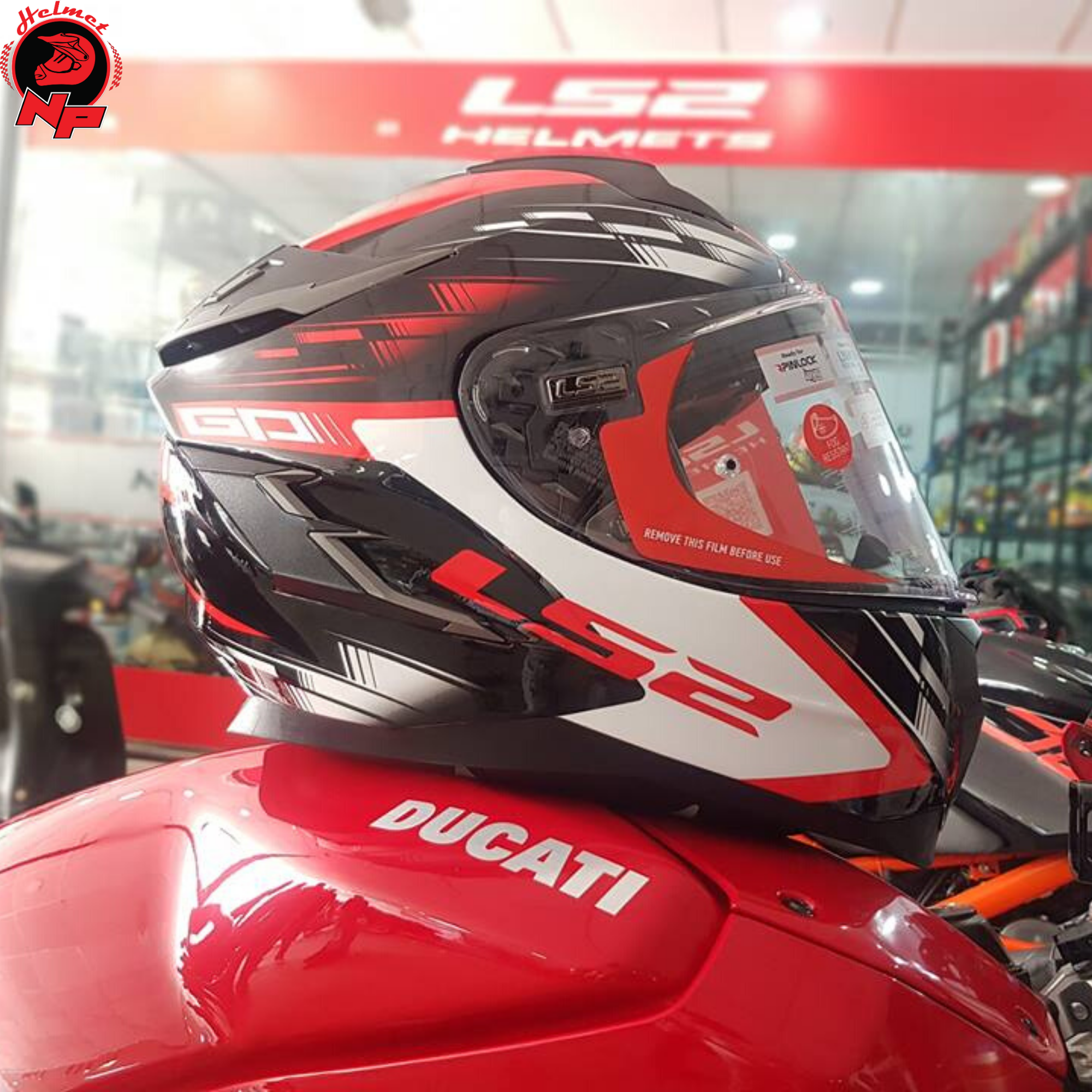 FULLFACE LS2 FF327 CHALLENGER GP RED