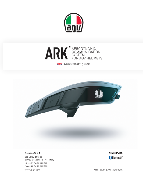 AGV ARK BLUETOOTH COMMUNICATION SYTEM
