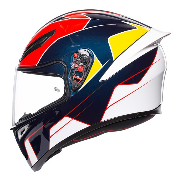 K1 AGV ASIAN FIT PITLANE BLUE/RED/YELLOW