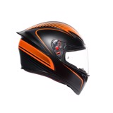 K1 AGV ASIAN FIT WARMUP MATT BLACK/ORANGE