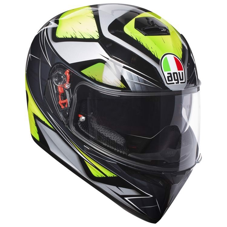 K3-SV AGV ASIAN FIT LIQUEFY GREY/YELLOW FLUO