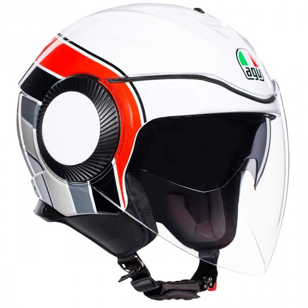 AGV ORBYT BRERA WHITE GRAY RED
