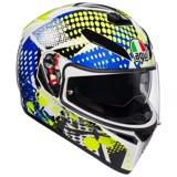 K3-SV AGV ASIAN FIT POP WHITE/BLUE/LIME