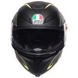 K5-S AGV ASIAN FIT TORNADO BLACK/YELLOW FLUO