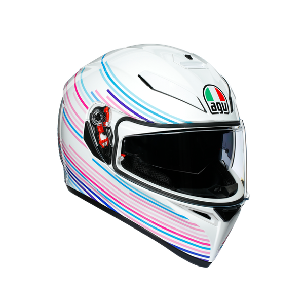 K3 SV AGV  ASIA FIT  SAKURA PEARL WHITE/PURPLE