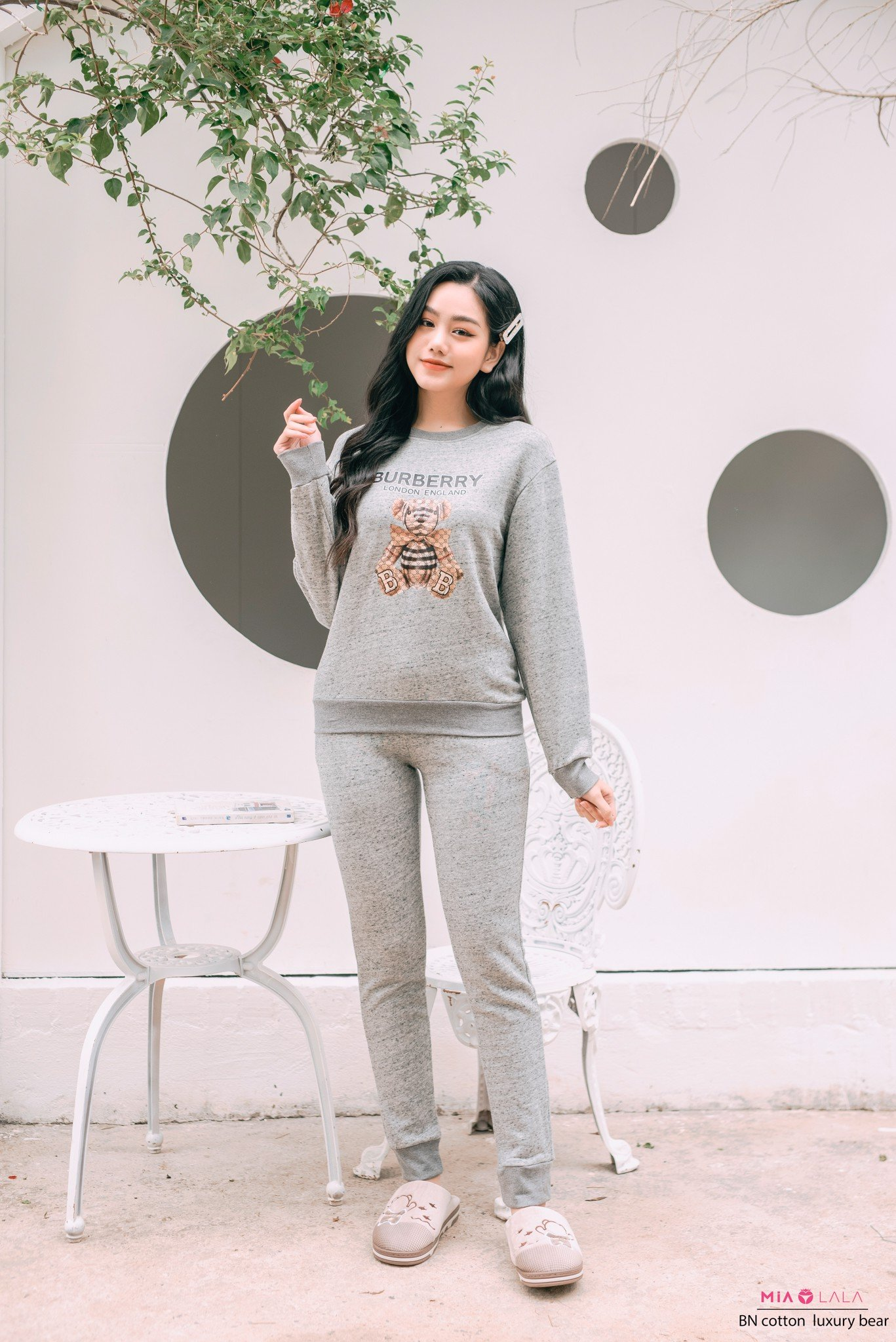 Bộ ngủ cotton luxury bear