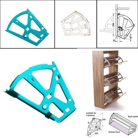 2-FLOOR HOLDER HINGES FOR COMPUTER SHOES WITH CUTTING SHOES PSS922