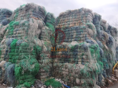 PA fish net pressed bales