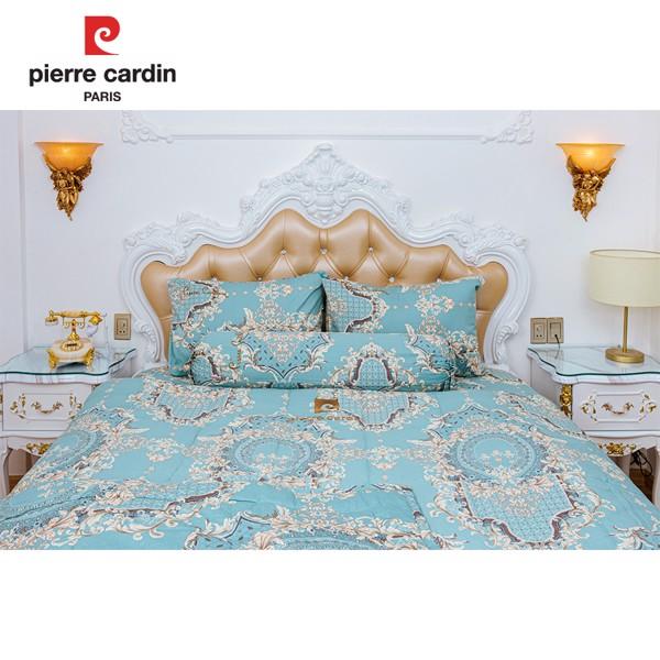Bộ Drap Pierre Cardin Hoa Văn Lý – Cotton 140x200x25