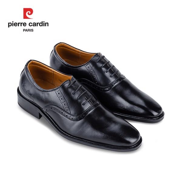 Giày Da Pierre Cardin Black Oxford Cement – PCMFWLB 042