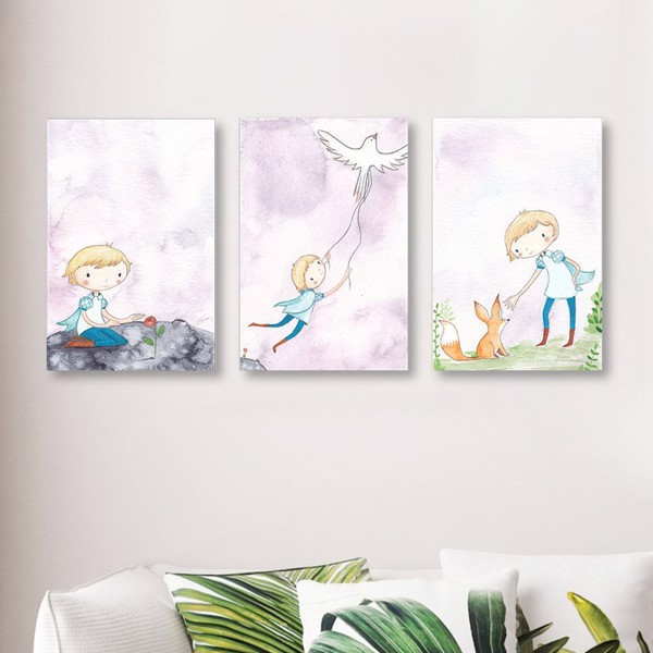 Bộ 3 Tranh Canvas Little Price