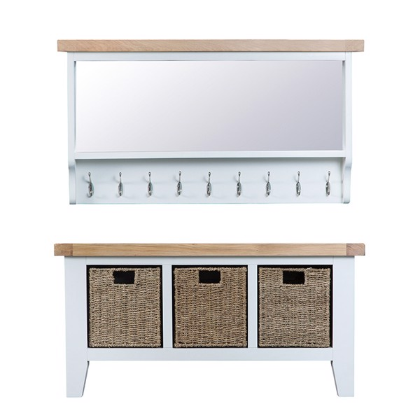 Bộ Welcome Bench TT Old White Collection (100 x 50 cm)