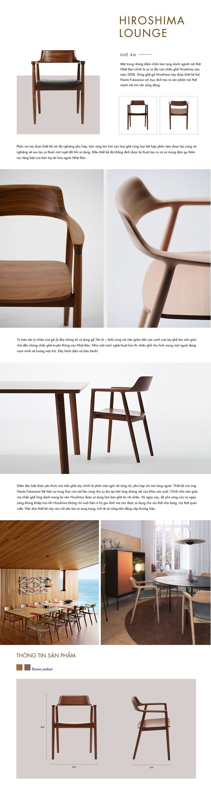 Ghế Hiroshima Chair LY660