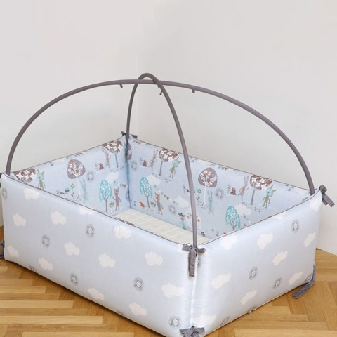 Giường Sợi Tre Blue Forest Size Nhỏ LOL Baby (100x80x35cm)