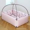 Giường Sợi Tre Pink Forest Size Vừa LOL Baby (1.2x1.0x0.45m)