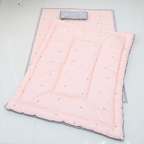 Set Đệm Cotton Cỡ Trung Simple Star Pink LOL Baby