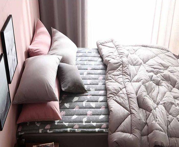 Tấm trải lót sàn ngủ đa năng 2in1 Dear Bear Rug Hàn Quốc