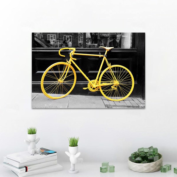 Tranh Canvan Yellow Bicycle Alila (60x90cm)