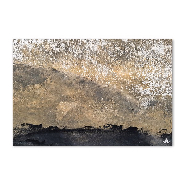 Tranh Canvas Black And Gold Abstract Alila (40x60cm - 50x758cm - 60x90cm)