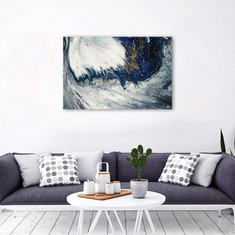 Tranh Canvas Blue Abstract 2 Alila (40x60cm - 50x75cm - 60x90cm)