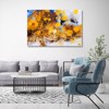 Tranh Canvas Blue And Gold Abstract 5 Alila (40x60cm - 50x75cm - 60x90cm)