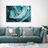 Tranh Canvas Blue And Gold Abstract 6 Alila (60x90cm)