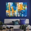 Tranh Canvas Blue And Yellow Abstract Alila (30x45cm - 40x60cm - 50x75cm - 60x90cm - 80x120cm - 100x150cm)