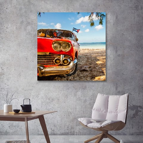 Tranh Canvas Car On The Beach Alila (40x40cm - 60x60cm - 80x80cm)