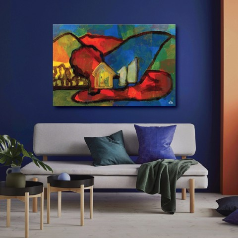 Tranh Canvas Colorful Abstract 01 Alila (30x45cm- 40x60cm - 50x75cm - 60x90cm - 80x120cm - 100x150cm)