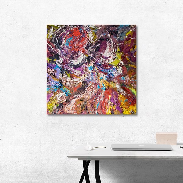 Tranh Canvas Colorful Abstract 4 Alila (80x80cm)