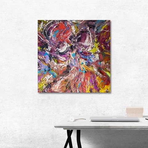 Tranh Canvas Colorful Abstract 4 Alila (40x40cm - 60x60cm - 80x80cm)