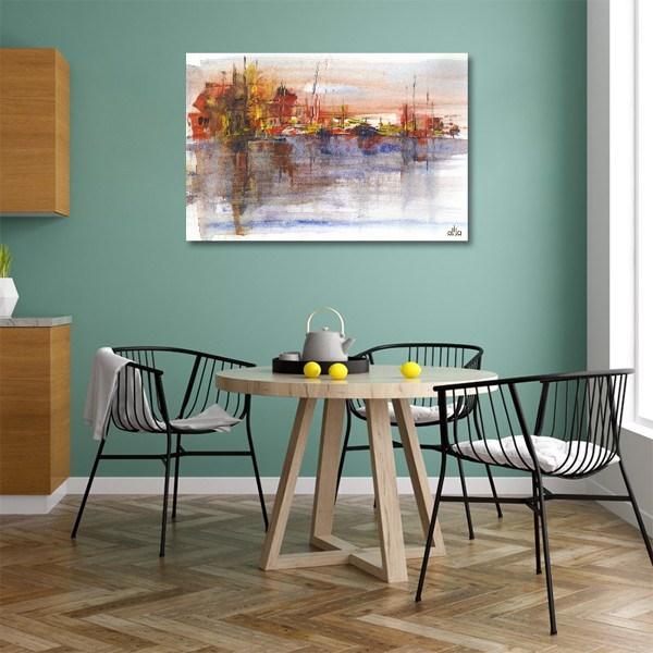Tranh Canvas Colorful Abstract 5 Alila (60x90cm)